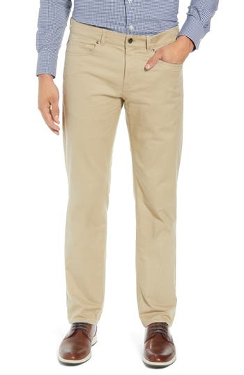 Men's Peter Millar Soft Touch Twill Pants, Size 30 - Beige