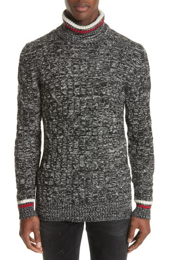 Men's Belstaff Howden Wool Turtleneck Sweater, Size Small - Black