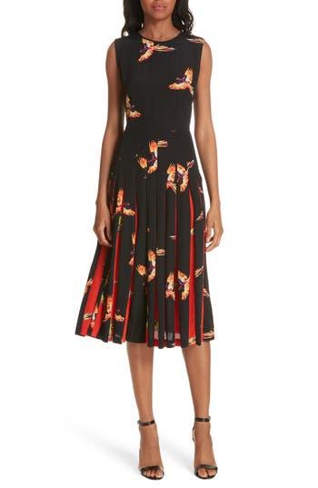 DVF Talita Bird Print Silk Dress