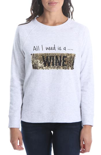KUT FROM THE KLOTH ASTERIA ALL I NEED IS COFFEE OR WINE SEQUIN TOP