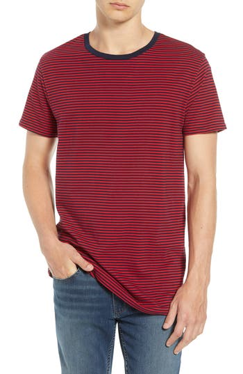 Men's Scotch & Soda Stripe T-Shirt, Size Small - Red