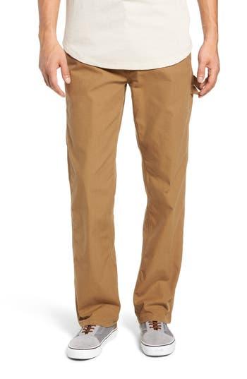 Men's Vans Hardware Straight Fit Carpenter Pants, Size 28 - Brown