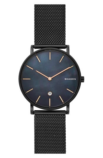 Skagen Hagen Slim Mesh Strap Watch, 40mm