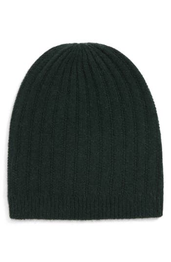 Halogen® Ribbed Cashmere Beanie