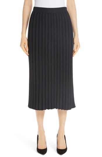 Lafayette 148 New York Metropolitan Shine Plaited Rib Skirt
