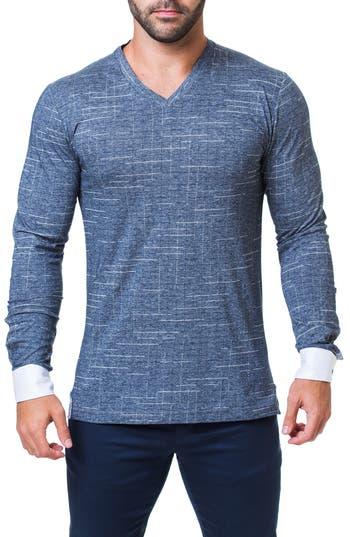 Maceoo Edison Trim Fit Check T-Shirt