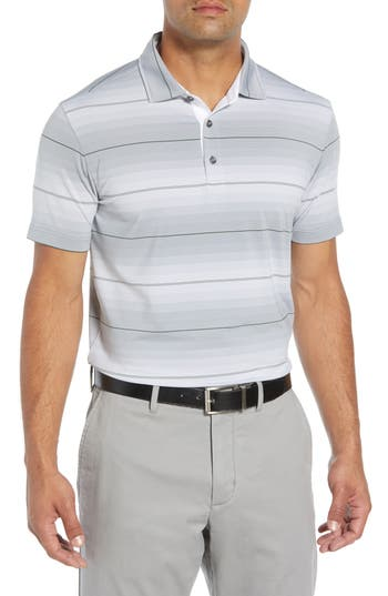 BOBBY JONES R18 TECH DIESEL STRIPE GOLF POLO