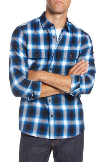 1901 Trim Fit Brushed Ombré Plaid Flannel Shirt