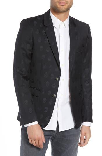The Kooples Slim Fit Jacquard Wool Dinner Jacket
