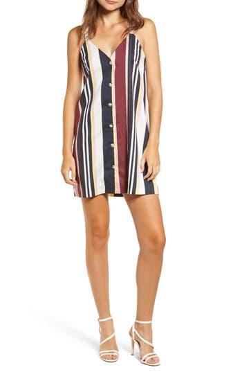 Topshop Sleeveless Stripe Minidress