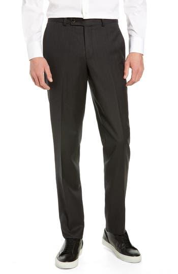 Ted Baker London Jefferson Flat Front Solid Wool Trousers