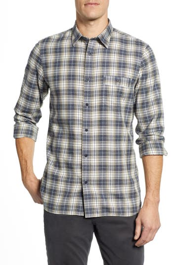 Nordstrom Men's Shop Trucker Regular Fit Plaid Flannel Sport Shirt