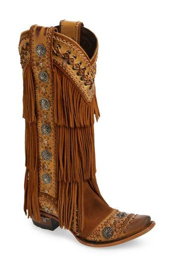 LANE BOOTS Wind Walker Fringe Knee High Western Boot (Women)