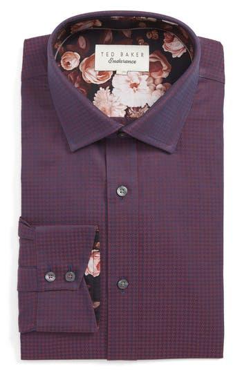 Ted Baker London Carmz Trim Fit Houndstooth Dress Shirt
