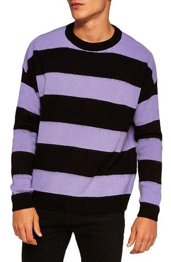 Topman Block Stripe Classic Fit Sweater