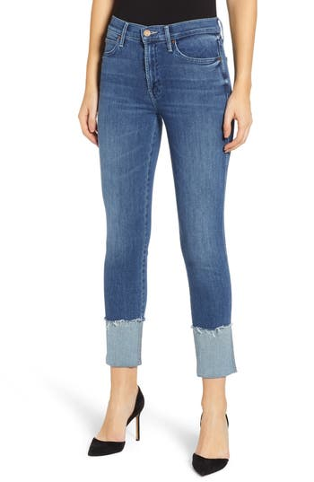 MOTHER The Ponyboy Frayed Ankle Jeans