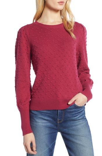 Halogen® Bobble Stitch Sweater
