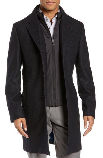 Ted Baker London Herringbone Wool Blend Overcoat