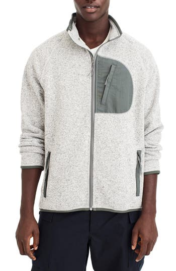 J.Crew Classic Fit Fleece Sweater Jacket