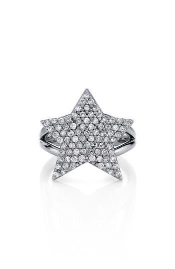 Sheryl Lowe Pavé Diamond Star Ring