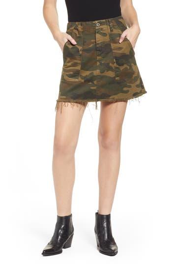 BLANKNYC Camouflage Miniskirt