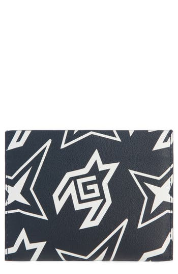 Givenchy Cosmic Star Print Leather Card Case