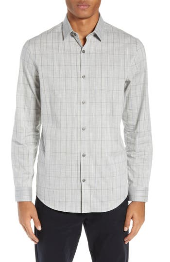 Calibrate Heather Plaid Sport Shirt