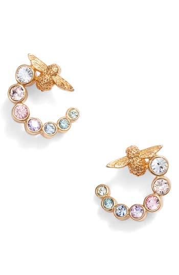 Olivia Burton Rainbow Bee Hoop Earrings