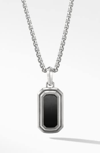 David Yurman Deco Amulet with Black Onyx