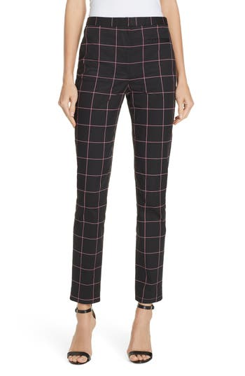 Milly Check Skinny Pants