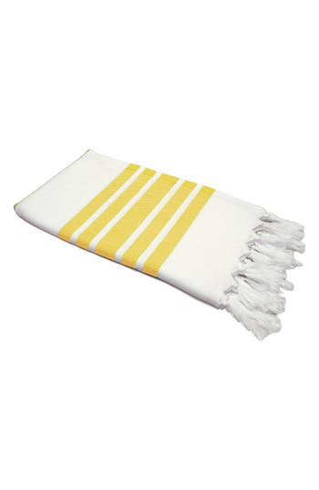 Linum Home Textiles Herringbone Striped Turkish Pestemal Towel, Size One Size - Yellow