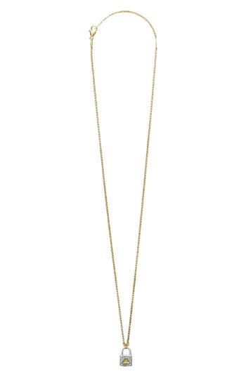 LAGOS Beloved Small Diamond Lock Pendant Necklace