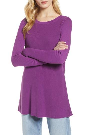 Halogen® Split Back Tunic Sweater