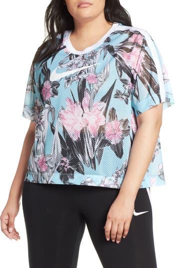Nike Sportswear Floral Print Mesh Top (Plus Size)