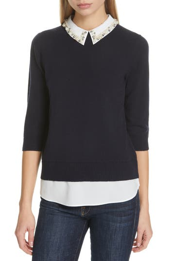Ted Baker London Lunna Embellished Collar Top