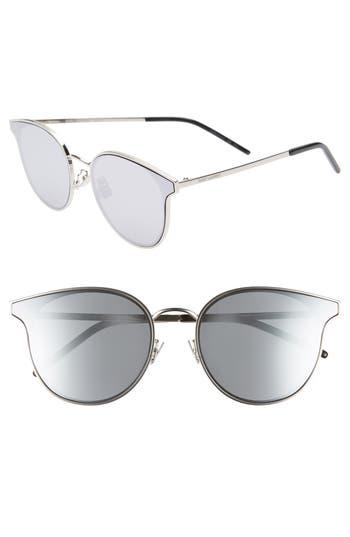 Saint Laurent 64mm Oversize Flat Front Round Sunglasses