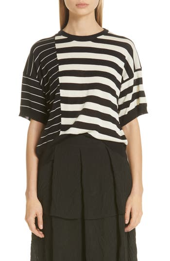 Sara Lanzi Stripe Silk Sweater