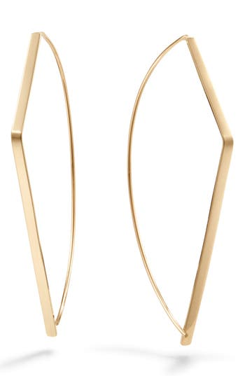 Lana Jewelry Angled Upside Down Hoop Earrings