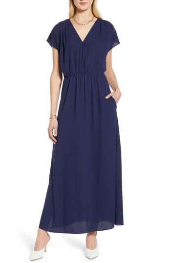 Halogen® V-Neck Maxi Dress