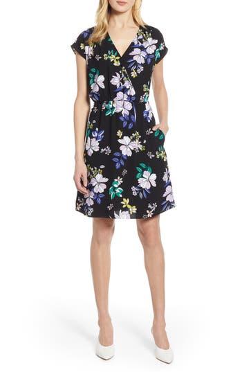 Halogen® Faux Wrap Dress