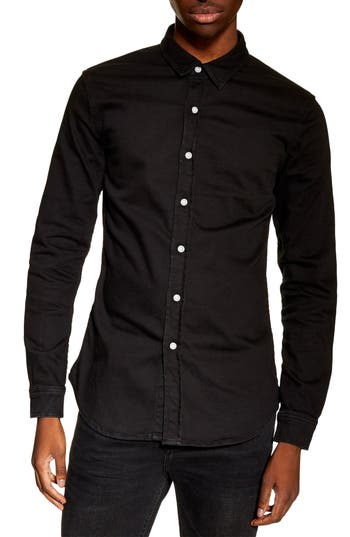 Topman Stretch Denim Shirt