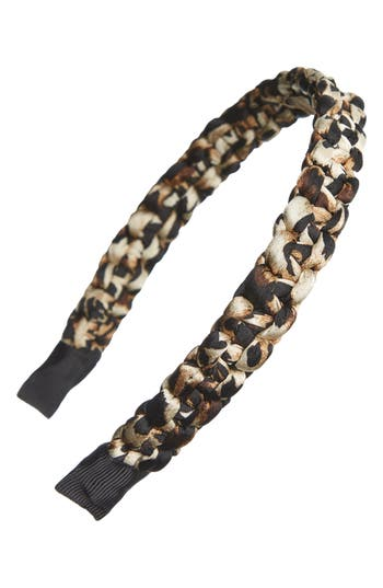 Tasha Braided Leopard Spot Headband