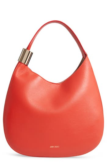 Jimmy Choo Stevie Lambskin Leather Hobo