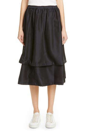Comme des Garçons Double Layer Jacquard Skirt