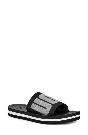 UGG® Zuma Metallic Logo Slide Sandal (Women)