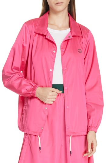 Tory Sport Waterproof Performance Satin Warm-Up Jacket