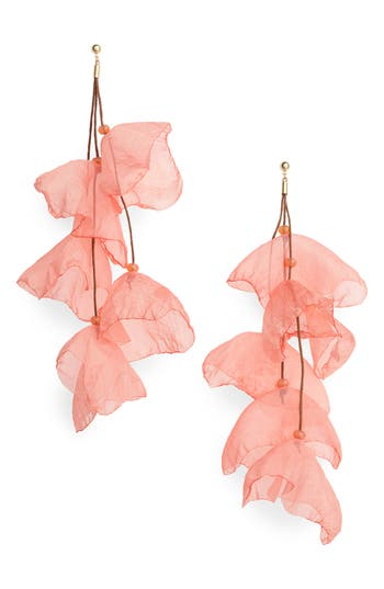 Stella + Ruby Petal Chiffon Statement Earrings