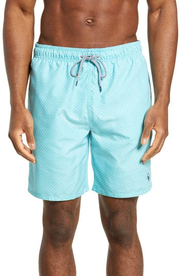 Ted Baker London Atlantic Geo Print Swim Trunks
