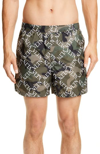 Valentino Camo Swim Trunks