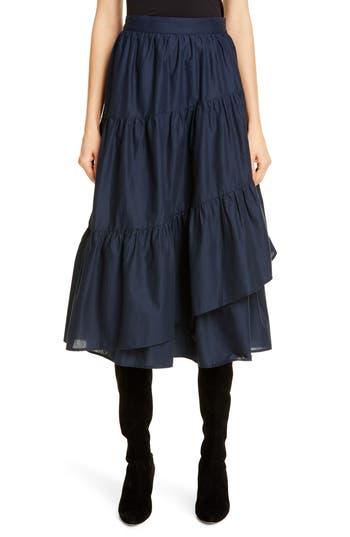 Merlette Hallerbos Tiered Midi Wrap Skirt